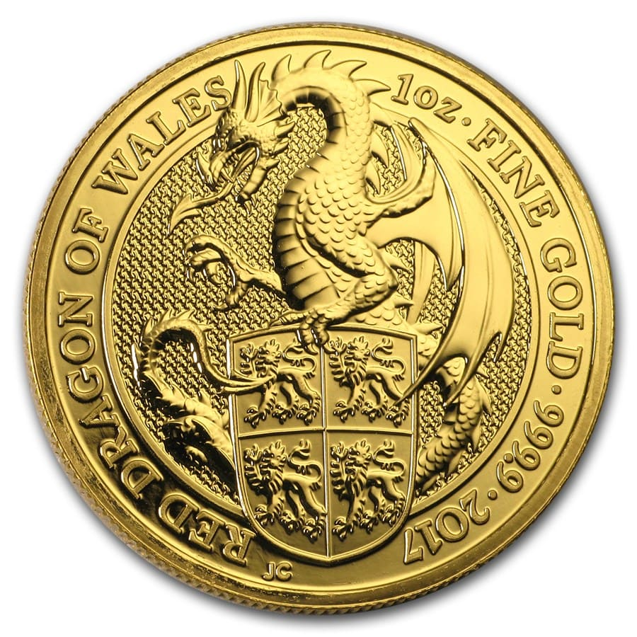 2017 Great Britain 1 oz Gold Queen's Beasts The Dragon
